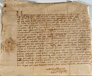 Philippe Villiers de L'Isle-Adam - Letter from King Henry VIII to Grand Master l'Isle Adam, 1530