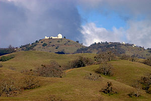 Charles Edward Barns - Lick Observatory from Grant Ranch.