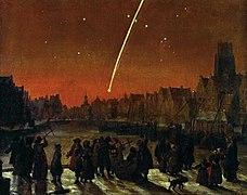 Lieve Verschuier - Staartster (komeet) boven Rotterdam - 11028-A-B - Museum Rotterdam