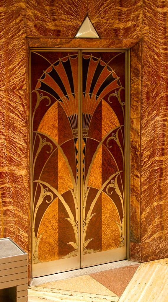 Filelift door chrysler building lobbyjpg wikimedia commons for Interior estilo art deco