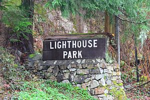 Lighthouse Park - Entrance flagstone to the park