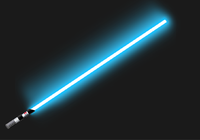 Lightsaber blue (with shimmering aura)