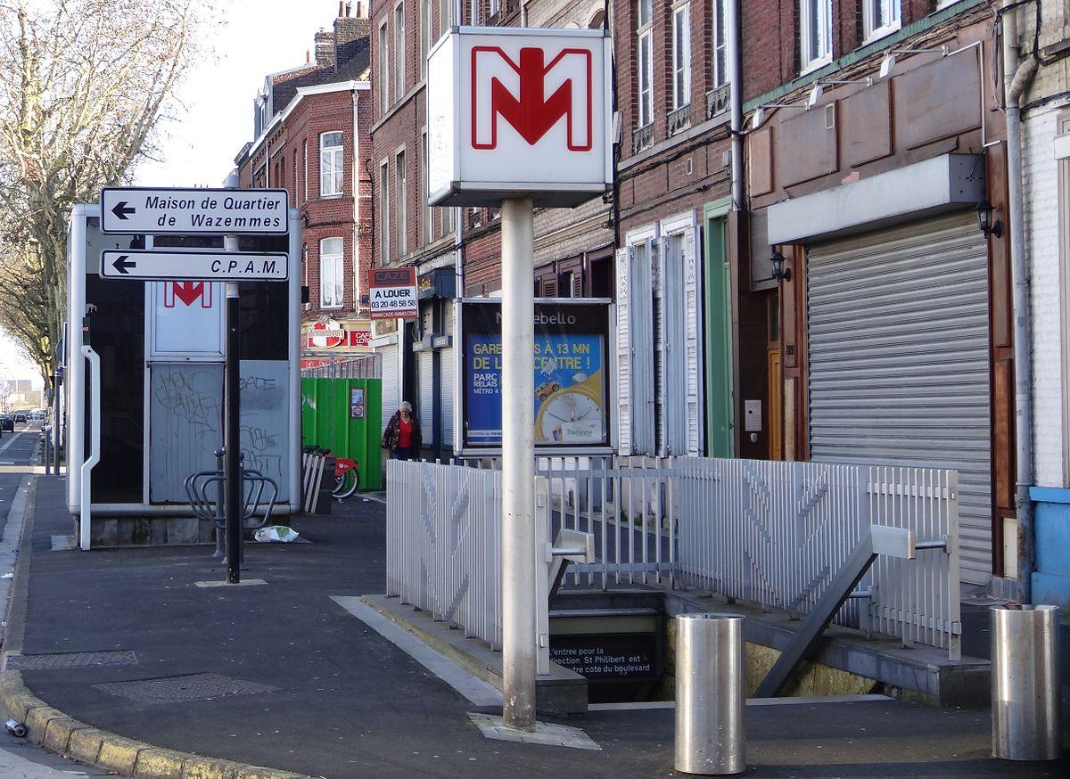 Montebello m tro de lille m tropole wikip dia - Station essence porte des postes lille ...