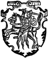 Lithuanian coat of arms Vytis (Pogonia) from Marcin Bielski's book Kronika Polska, 1597.png