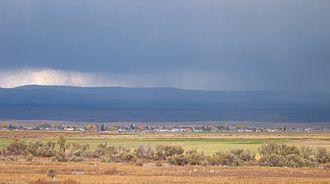 Loa, Utah - Rain over Loa