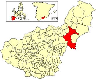 Baza, Granada - Image: Location Baza (municipality)