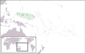 Roman Catholic Diocese of Caroline Islands - Image: Location Micronesia