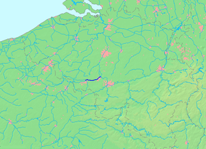 Canal du Centre (Belgium) - The location of the Canal du Centre in Belgium