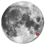 Location of lunar crater petavius