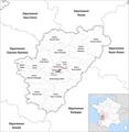 Locator map of Kanton Angoulême-2 2019.png