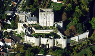 Château de Loches - Image: Loches dungeon, aerial view from West