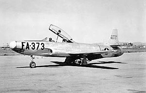 Lockheed F-94 Starfire - Lockheed YF-94 (S/N 48-373). This was the second aircraft built (from TF-80C)