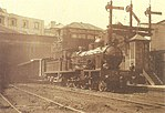 Locomotiva CP 355 no Rossio - Os Caminhos de Ferro Portugueses 1856-2006.jpg