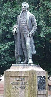 Memorial of Hebel by Wilhelm Gerstel in the Hebelpark, Lörrach (Source: Wikimedia)