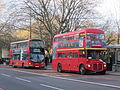 London buses WVL61 (LF52 ZPY) & RM1776 (776 DYE), 30 December 2012.jpg