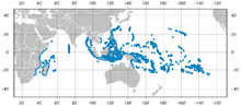 Longnose Butterflyfish Forcipiger longirostris distribution map.png