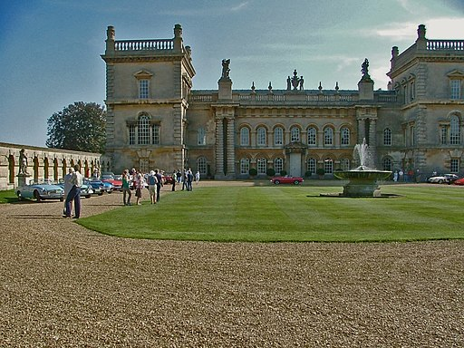 Looking across the Courtyard at the rear of Grimsthorpe Castle - geograph.org.uk - 1739832