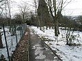 Looking along the path from Guildford Cathedral Close to the steps to Cathedral Close - geograph.org.uk - 1153745.jpg