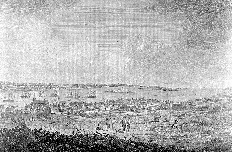 Looking down Prince Street, Halifax, Nova Scotia, Canada, 1759