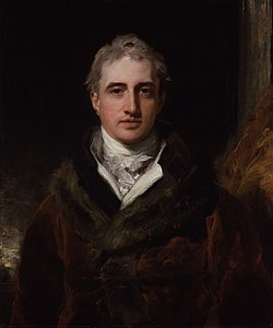 Robert Stewart, vicomte Castlereagh. Portrait par Thomas Lawrence, National Portrait Gallery, Londres.