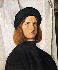 Lorenzo Lotto - Portrait of a Young Man with a Lamp, 1506