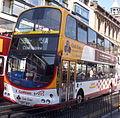 Lothian Buses bus 713 Volvo B7TL Wrightbus Eclipse Gemini SN55 BKV Harlequin livery Route 3 Club Class route branding.jpg