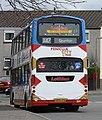 Lothian Buses bus 801 Volvo B7TL Wrightbus Gemini SN56 AFE Harlequin livery Route X47 Penicuik CityLink branding.jpg