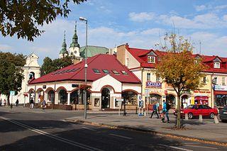 Lubartów Place in Lublin, Poland