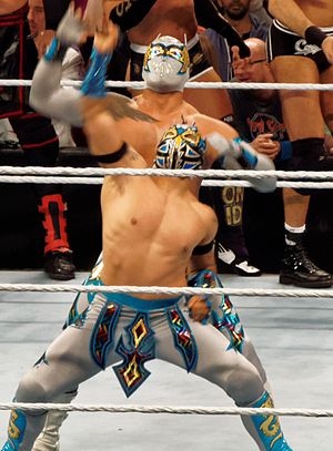 Kalisto (wrestler) - The Lucha Dragons in March 2015