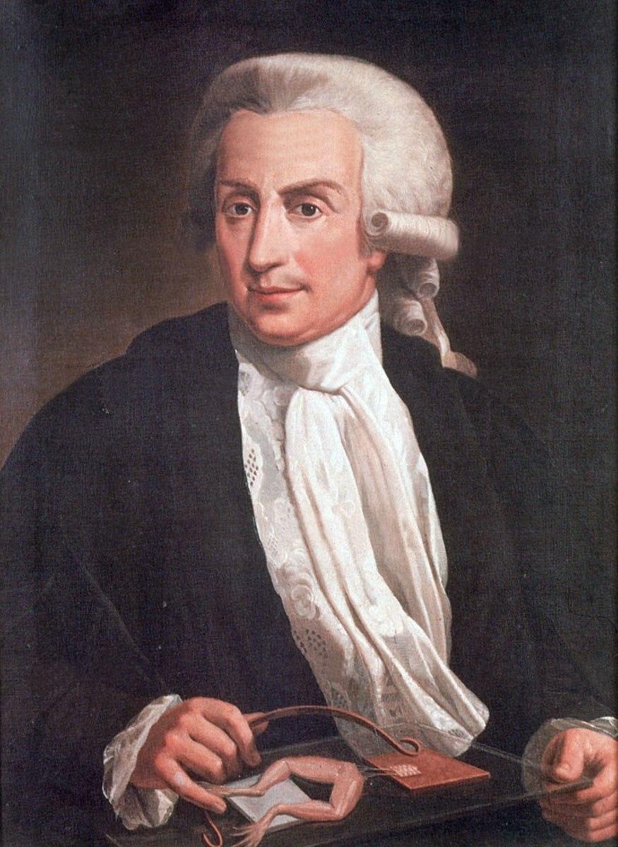 Luigi Galvani, oil-painting