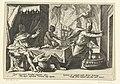 Lycaon verandert in een wolf Ovidius' Metamorfosen (serietitel), RP-P-1882-A-6351.jpg
