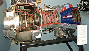 Lycoming T-53-L9 Turboshaft engine.jpg