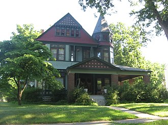 National Register of Historic Places listings in Fulton County, Indiana - Image: Lyman M. Brackett House in Rochester