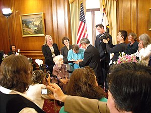 Del Martin and Phyllis Lyon - Wedding of Martin and Lyon