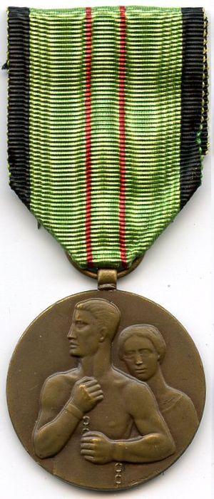 Civilian Resistance Medal - Image: Médaille du Résistant civil 1940 45 Belgique