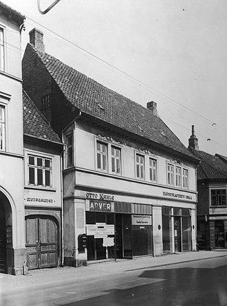 Møntergården - Møntergården in 1939, before the restoration of Renaissance facade.