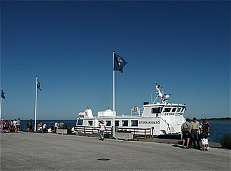 Klintehamn - Boat to Stora Karlsö at Klintehamn harbor
