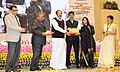 M. Venkaiah conferred the National Awards for Excellence in Journalism, at the Golden Jubilee celebrations of the Press Council of India, on the occasion of the National Press Day, in New Delhi (2).jpg