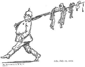 Atrocity propaganda - Image: MB Walker German bayoneting children Life July 25, 1915
