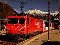 MGB Regio to Zermatt in Visp railway station March 2011.jpg