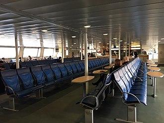 Bridgeport & Port Jefferson Ferry - Image: MV Park City Interior