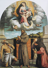 Madonna and Child in Glory with Saints Jerome, Francis of Assisi, and Anthony Abbot