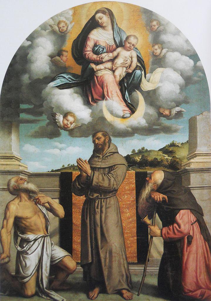 file madonna col bambino in gloria con i santi girolamo