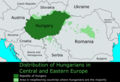 Regions where Hungarian is spoken[relevant?]