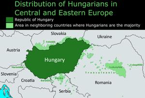 Hungarian diaspora - Image: Magyars Outside Hungary