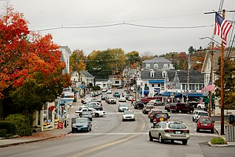 Wolfeboro, New Hampshire - View of Main Street in the fall