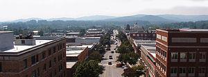 Hendersonville, North Carolina - Image: Main Street Hendersonville