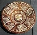 Maiolica ispano-moresca, piatto a lustro, xv-xvi secolo 01.jpg