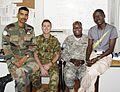 Maj. Upendra Srivastava (India), Capt. Joshua Sims (Australia), Maj. James Coe (U.S.) and Adamu Dauda (Nigeria).jpg