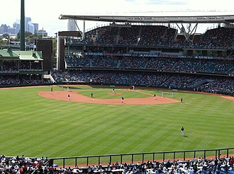 Major League Baseball starts its 2014 season at the Sydney Cricket Ground Major League Baseball at Sydney Cricket Ground, 2014.jpg